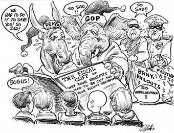 The Fiscal Cliff Cartoon