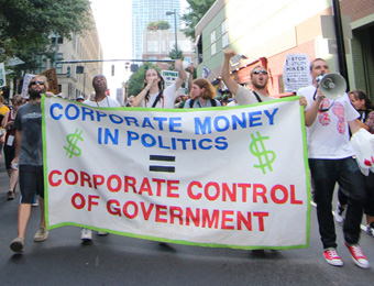 Corporate Money in Politics equals Corporate Control of Government