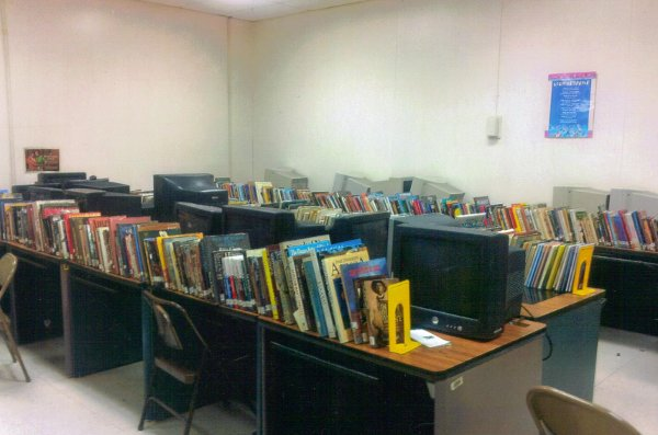 The unelected, tyrannical Emergency Manager in Highland Park, MI threw 1,000 school books in a dumpster against the community's wishes. The photo shows some of the remaining books still housed in the school. PHOTO/GLENDA MCDONALD