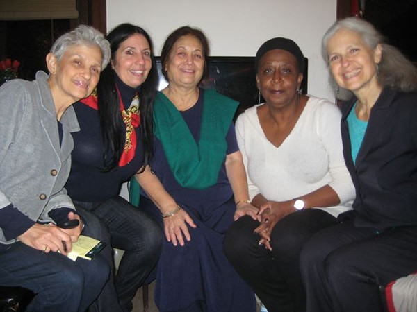 Participants at the World Courts of Women in Philadelphia. The women are (from left to right) Walda Katz-Fishman, Cheri Honkala, Corinne Kumar, Rose Brewer, and Jill Stein.  PHOTO/JASON BOSCH
