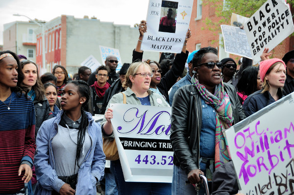 Baltimore protest against police killing of Freddie Gray. PHOTO/ELNO SIERPE
