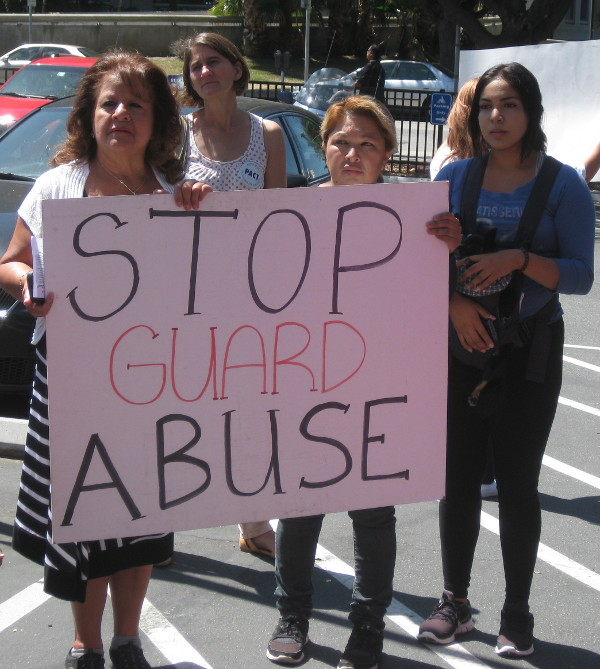 Supporters protest the brutal murder of homeless inmate by jail guards in Silicon Valley in August. PHOTO/SANDY PERRY