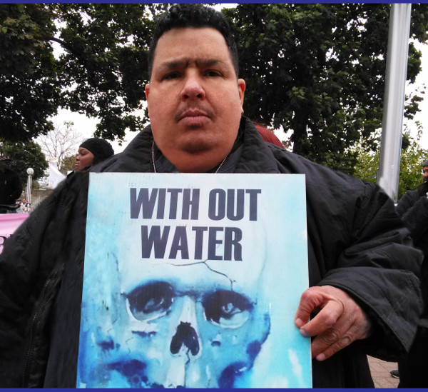 Eban Morales from Highland Park, MI at a Detroit March for Justice Rally. PHOTO/ DONATED