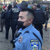 police at San Lorenzo Park encampment