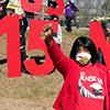 Worker in Durham North Carolina demanding 15 minimum wage