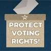 graphic about voter suppression in Texas
